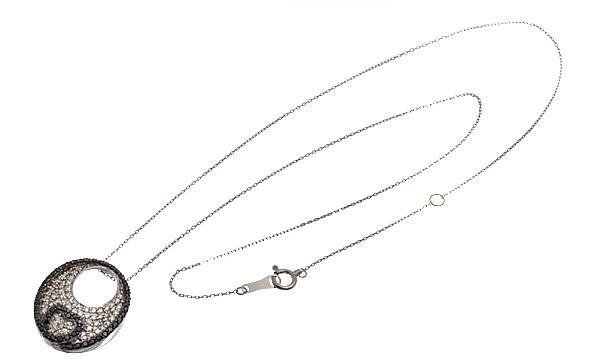 ブラックダイヤ・ダイヤ ペンダントネックレス