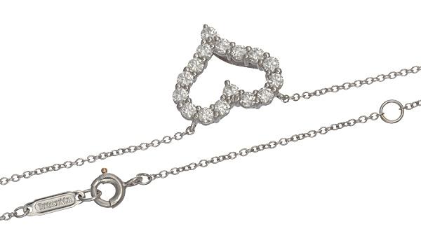 センチメンタルハート ダイヤ ネックレス(S)