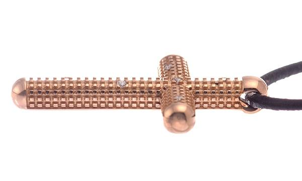 メトロポリタンドリーム バイ H.NAKATA 6Pダイヤ クロス ネックレス
