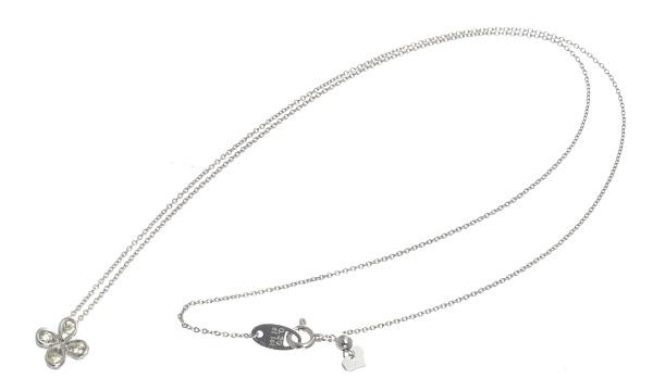 フラワーモチーフ ダイヤ ペンダントネックレス