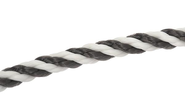 フォース10 ブレスレット用コード ブラック/ホワイトテキスタイル 16