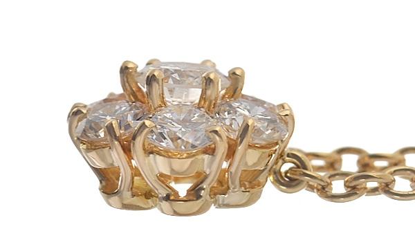 フルーレット ダイヤ ネックレス