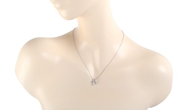 イニシャルK ダイヤ ペンダントネックレス