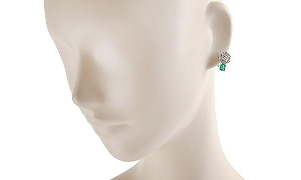 エメラルド・ダイヤ イヤリング