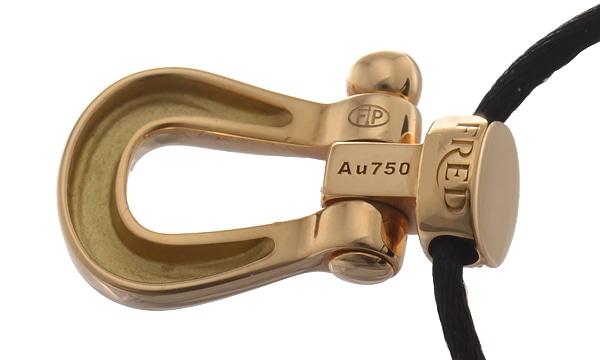 フォース10 ハーフダイヤ コットンコードペンダントネックレス(L)