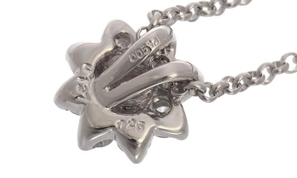 フラワー ダイヤ ペンダントネックレス