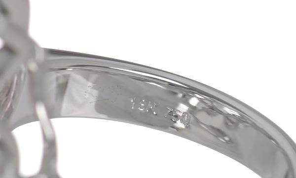 フラワー クンツァイト・ダイヤ リング