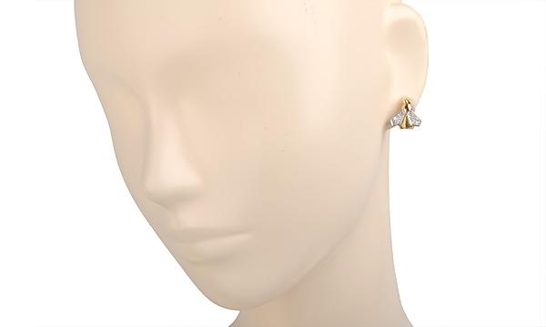 ハチ ダイヤ イヤリング
