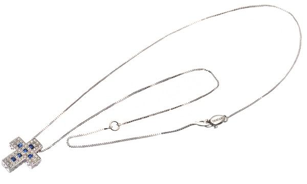 ベルエポック サファイア・ダイヤ ペンダントネックレス(XS) 【生産終了モデル】