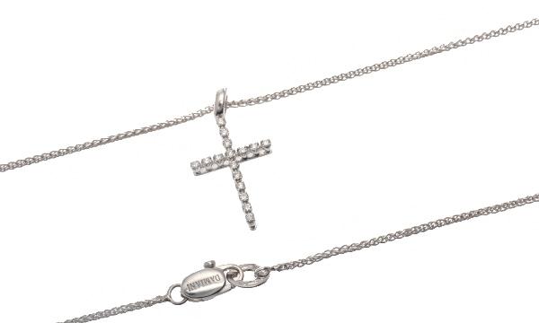 ミステリークロス ダイヤ  ペンダントネックレス(XS)