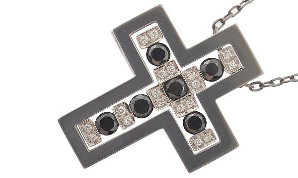 ベルエポック ダイヤ・ブラックダイヤ ペンダントネックレス(M)