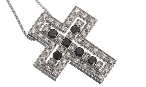 ベルエポック ブラックダイヤ・ダイヤ ペンダントネックレス(S)