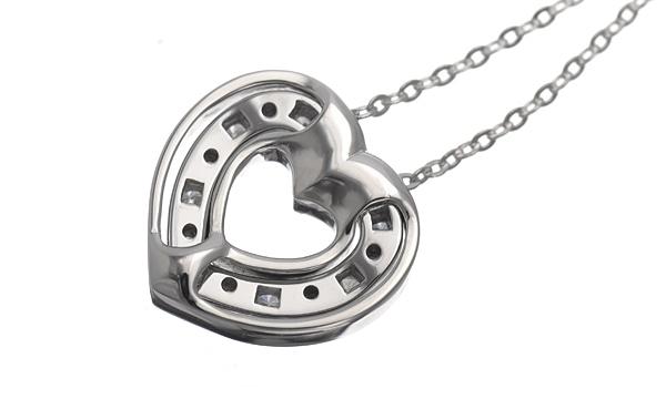 ベルエポック ハート ダイヤ ネックレス