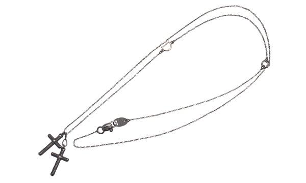 メトロポリタンドリーム BY H.NAKATA 2Pダイヤ ペンダントネックレス