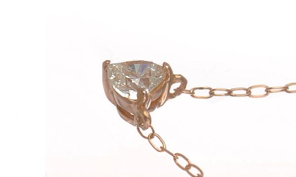 ハートシェイプダイヤ ネックレス