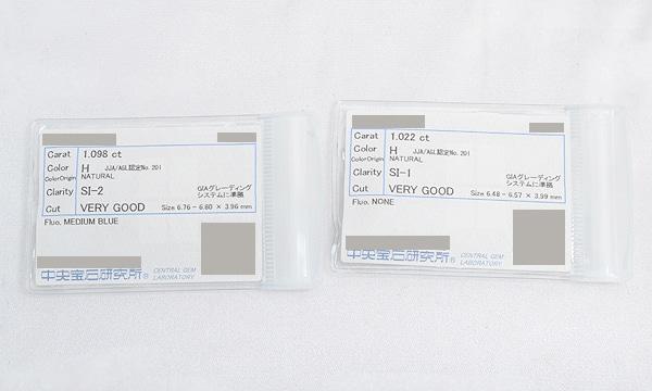 ダイヤピアス D 1.098ct/1.022ct