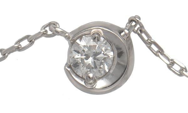 ムーンセッティング ダイヤ ネックレス