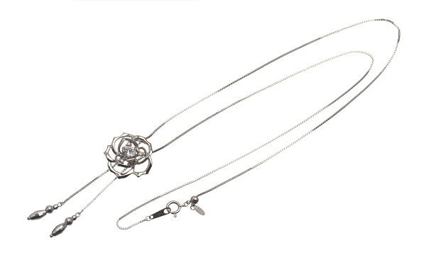 フラワー ダイヤ スライドネックレス