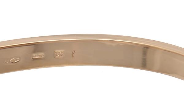 ブルガリブルガリ ダブルロゴ 2Pダイヤ バングルブレスレット(L)