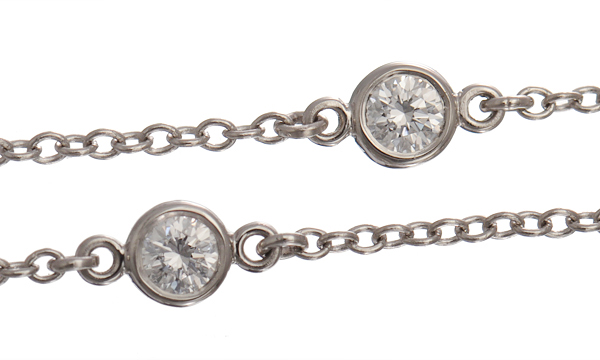 エルサ・ペレッティ ダイヤモンド バイザヤード 5Pダイヤ ネックレス