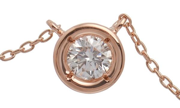 シンプルダイヤモンドソリティア ネックレス