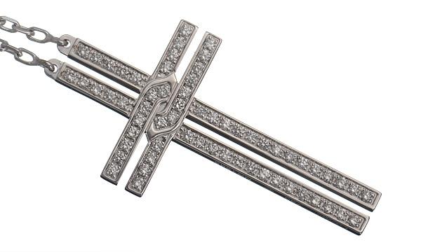 クロスモチーフ ダイヤ ネックレス