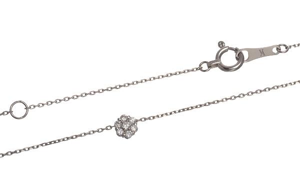プチブラン ダイヤ ペンダントネックレス