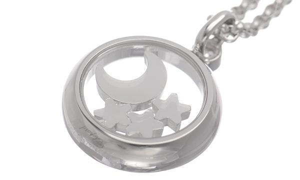 ハッピーダイヤモンド ラウンド 3Pスターダイヤ・1Pムーンダイヤ・ダイヤ ペンダントネックレス