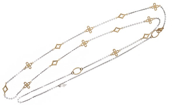 オープンゴシックダイヤクロス ロングネックレス