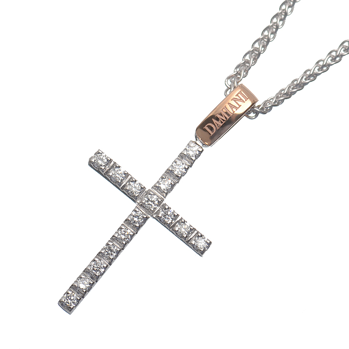 ミステリークロス ダイヤ  ペンダントネックレス(XS) 【生産終了モデル】