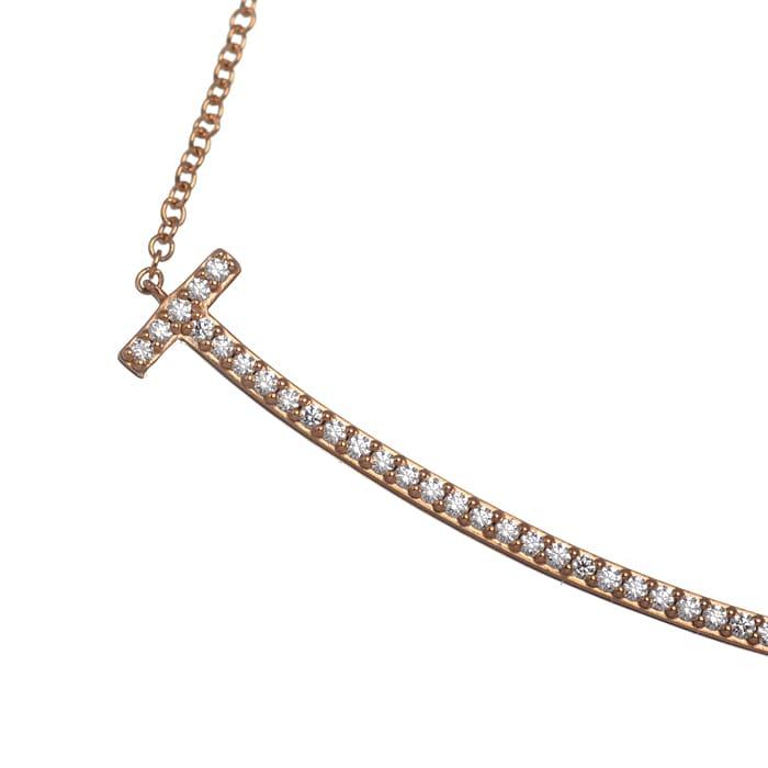 Tスマイル ダイヤ ネックレス