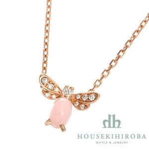 アトラップ・モワ ミツバチ ダイヤ・ピンクオパール ネックレス