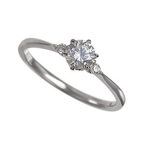 セミオーダー婚約指輪 HHR006 セッティングダイヤ 0.410-E-VS2-EX