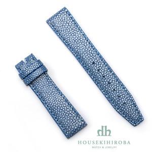 宝石広場オリジナル IWCポルトギーゼクロノ用ストラップ ガルーシャ 尾錠用 ブルー/ブルー 20‐18mm