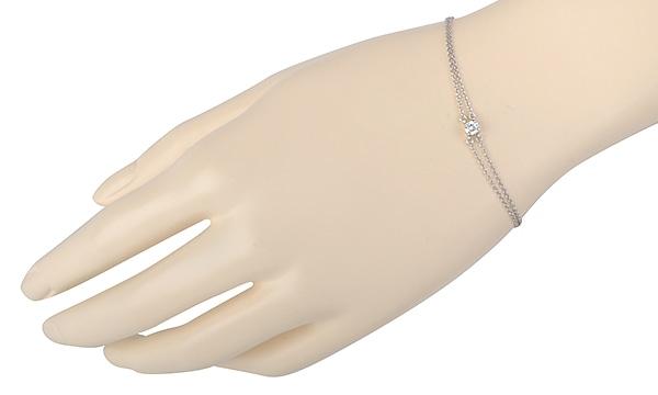 used SOLITAIRE DIAMOND BRACELET